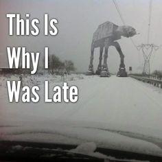 Why I'm late