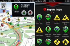 Trapster: driver-submitted reports to alert you to police traps, speed cameras, traffic jams, and road hazards so you can change your route on the fly.