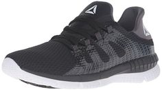Reebok Womens Zprint Her MTM Running Shoes BlackAsh GreyWhite 75 BM US * Read more reviews of the product by visiting the link on the image.