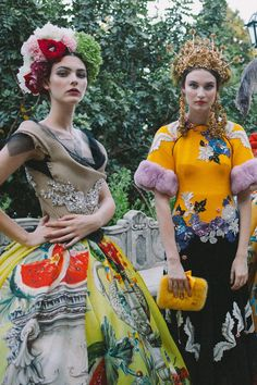 Dolce & Gabbana Alta Moda Fall 2015 Haute Couture #DGPortofino #backstage
