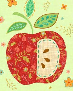 Apple Art Print by pictorialboom on Etsy