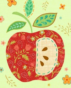 Apple Art Print by pictorialboom on Etsy