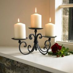 Wrought iron church candle holder