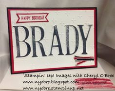 Tap & Scrap: Stampin ' Up! Letters for You and Numbers for You