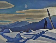 """Rockwell Kent, """"The Trapper"""", 1921, Oil on canvas, 34 1/4"""" x 44 1/4"""""""