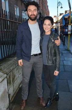A very aspiring couple: Poldark star Aidan Turner, 31, with his girlfriend…