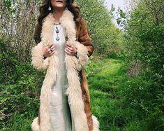 Vintage 70s Afghan Suede Coat