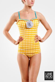 Gingham Retro One-Piece  Love this!  It is a cute suit.