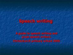 Speech-writing by jaimelavie via Slideshare