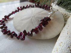 Valentine bracelet January birthstone by Inspiredby10 on Etsy, $18.00