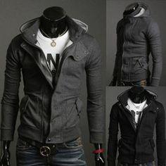 Mens Slim Fit Hooded Jacket