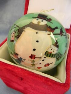 (NIB) NE'QWA ART CHRISTMAS ORNAMENT SNOWMAN