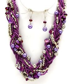 Gorgeous purple beaded necklace! $20.99