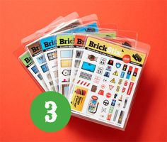 BrickStix. Stickers for Lego - these are actually cling stickers so reusable. Build all sorts of fun new things.