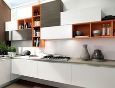 #kitchen #whitekitchen #kitchenuppers #accentcabinets