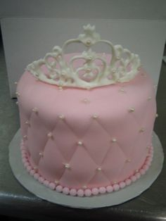 Pink Crown birthday cake - adorable!