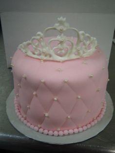 Pink Crown birthday cake - adorable!
