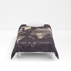 World map 1778 white black duvet cover by bravuramedia from world map 18 comforters gumiabroncs Images