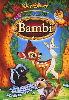 """A true classic Disney film, """"Bambi"""" movie poster is available."""