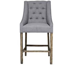 Stylish upholstered counter height stool.