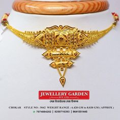 Gold Bangles Design, Gold Jewellery Design, Bridal Jewellery, Diamond Jewellery, Wedding Jewelry, Necklace Set, Gold Necklace, Gold Girl, Golden Jewelry