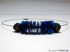 Kette aus Plastikteller und Alufolie / Necklace made from plastic plate and aluminium foil / Upcycling