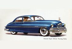 Packard Super DeLuxe Touring Sedan 1950 | Mad Men Art | Vintage Ad Art Collection