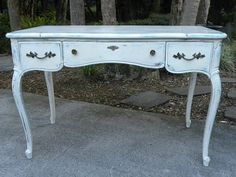 Vintage French Style Desk Painted with Anne Sloan by onlinechic, $298.00
