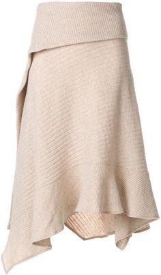 Paco Rabanne asymmetric knitted skirt