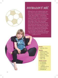 Jak vyrobit sedací vak v podobě kopacího míče, Foto: Ukázka z knihy Šijeme sedací vaky od Zity Thieberové z nakladatelství GRADA
