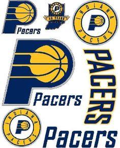 Indiana Pacers Scrapbooking Craft Sticker Sheet Set #1