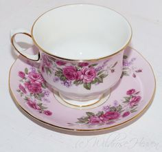 Queen Anne Tea Cup and Saucer Antique Teacups, Bone China Tea Cups- 472 by WildroseHeaven on Etsy https://www.etsy.com/listing/449424596/queen-anne-tea-cup-and-saucer-antique