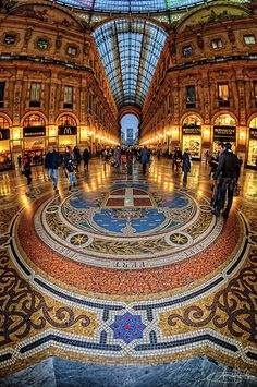 Galleria Viittorio Emanuele, Piazza del Duomo, Milan, Italy Thank god they pulled the McDirts from in there. Galleria Vittorio Emanuele Ii, Amazing Architecture, Art And Architecture, Places To Travel, Places To See, Places Around The World, Around The Worlds, Wonderful Places, Beautiful Places