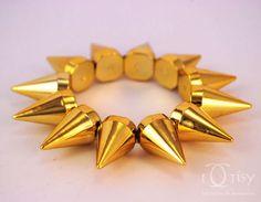 Pulseira Spikes Dourada - Bracelet Spikes