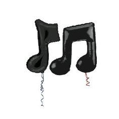 ShindigZ Black Double Musical Note Mylar Balloon - Amazon.com