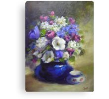 Acrylic Flowers Painting & Mixed Media: Canvas Prints | Redbubble