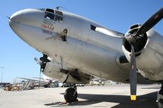 Curtiss-Wright C-46 transport, used in World War II. This is a fully restored, flying plane which was recently used to as a camera platform to film one of the recent James Bond movies.
