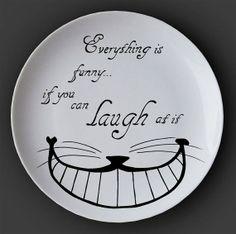 Illustrated ceramic plate Black and White Pen and by EleanorStuart, £37.00