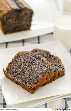 Poppy Seed Loaf/Cake - So delicious. Slovak Recipes, Czech Recipes, Sweets Recipes, Baking Recipes, Eastern European Recipes, Something Sweet, Sweet Bread, Cupcake Cakes, Food And Drink