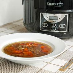 Fitness hovězí vývar z pomalého hrnce - zdravý recept Bajola Crockpot, Slow Cooker, Fitness, Recipes, Food, Diet, Eten, Recipies, Crock Pot