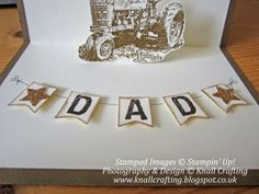 Knall Crafting! Fabulous Fathers' Day Pop Up Barn card with Tractor. Paula Knall, Independent Stampin' Up! Demonstrator