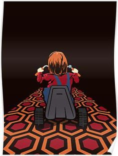 'The Shining Danny Torrance Go Kart' Poster by Creative Spectator Horror Movie Characters, Horror Films, Arte Horror, Horror Art, The Shining Poster, Horror Themes, Halloween Wallpaper Iphone, Collage Vintage, Christmas Drawing
