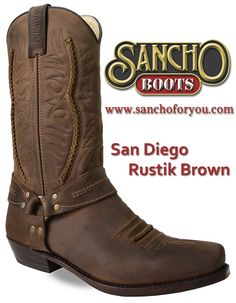 The Sancho Boots SAN DIEGO is one of the favourites of our collection.  The simple embroidered embellishments on its padded leather give the boot rustic, country character and the vertical lining brings out its style. #sanchoboots #cowboyboots