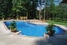 Backyard Pool Designs, Swimming Pools Backyard, Outdoor Spaces, Outdoor Living, Landscaping Around Pool, Pool Porch, Small Pool Design, Dream Pools, Backyard Makeover