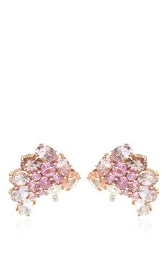 Pink Sapphire And Diamond Earclips by Gioia for Preorder on Moda Operandi