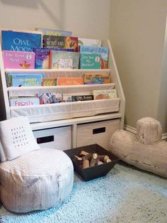 love the tree stump pillows for a story corner
