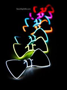 Light Up Bow Tie Neck Glow in the Dark Light Up by NeonNightlife