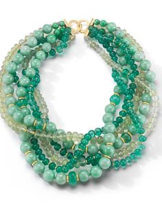 Seaman-Schepps-Multiple-Strand-Bead-Necklace-Emerald