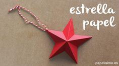 Estrellas de papel Navidad. Paper stars Christmas