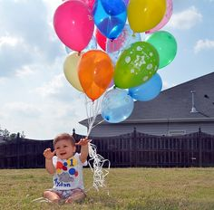 did some thing close to this for  one year pics....    very cute  First Bday photo idea!